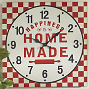 happiness is homemade wall clock