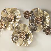 Metallic Flower Bling Wall Décor