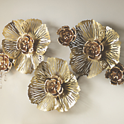 metallic flower bling wall decor
