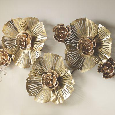 Metallic flower bling wall d cor from seventh avenue for Bling decor