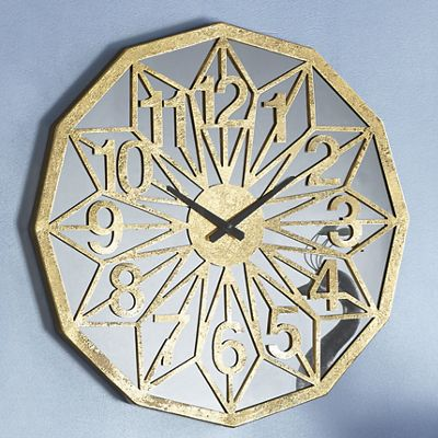 Gold Geometric Clock