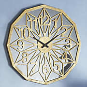 gold geometric clock