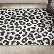 exotic leopard rug