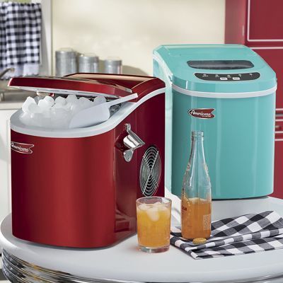 Retro Portable Ice Maker with Bottle Opener by Americana