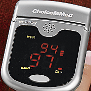 talking fingertip pulse oximeter by choicemmed
