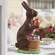 chocolate bunny figurine