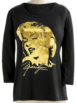 Gold Marilyn Tee