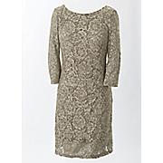 lace shirred dress 37
