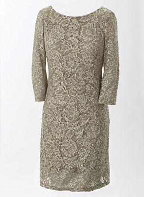 Lace Shirred Dress