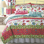 bright garden quilt  sham  pillow and panel pair