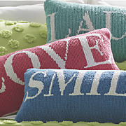 bright hooked pillow