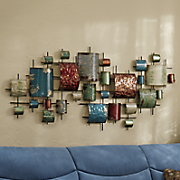Metal Rectangles Wall Hanging
