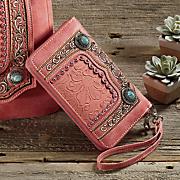 summer sunset wallet