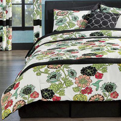 Aurora Comforter Set, Pillow, Panel Pair and Shower Curtain
