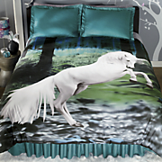 mystic forest comforter set and shower curtain