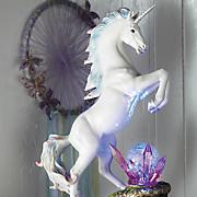 unicorn statue with led light