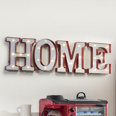 4-Piece Lighted Home Letters Set