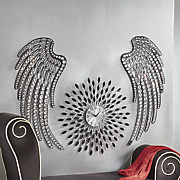 set of 2 jeweled wings wall decor