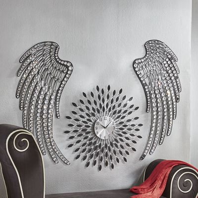 Set of 2 Jeweled Wings Wall Décor