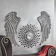 set of 2 jeweled wings wall decor