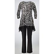 zebra top and pant set