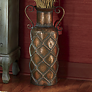 quilted short neck vase