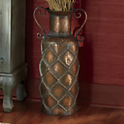 quilted short neck vase