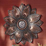 detailed leaf wall clock