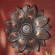 detailed leaf wall clock