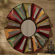 colorful sunburst mirror