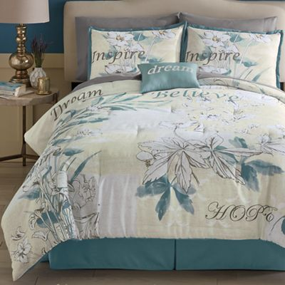 Sentiments Comforter Set, Pillow and Shower Curtain