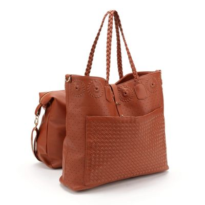 Whipstitch Circle Bag-In-A-Bag