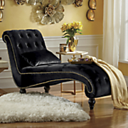 button lounge chair with pillow