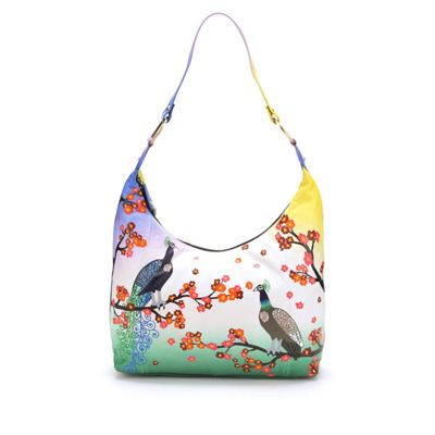 Hand-Painted Leather Bird Handbag