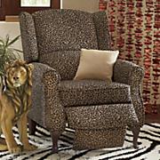 leopard wingback recliner 35