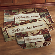3 pc  bless this home rug set by mohawk