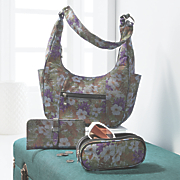 3 pc  floral denim bag set