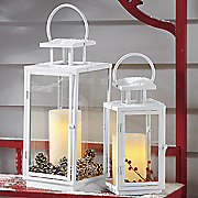 set of 2 white lanterns
