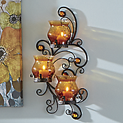 triple hurricane sconce