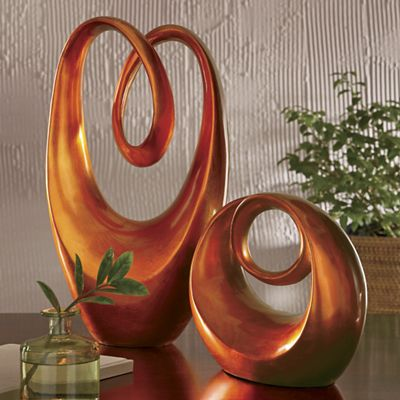 Small and Large Orange Sculpture