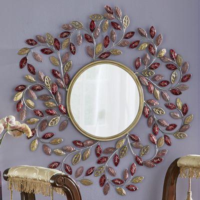Pink Petals Wall Mirror