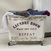 distressed laundry hamper