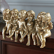 golden angels figurine
