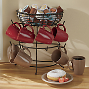 mug tree with basket