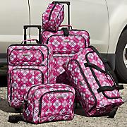 5 pc  travelers club luggage set