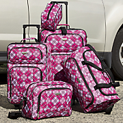 5 pc  travelers club luggage set