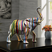 color dripped elephant figurine