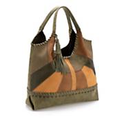 merlot patchwork hobo bag by steven