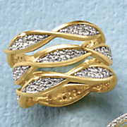 set of 3 diamond stackable rings
