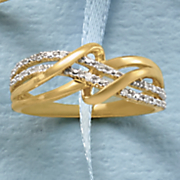 diamond double swirl ring 12